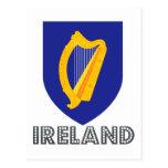 Irish Emblem Postcard