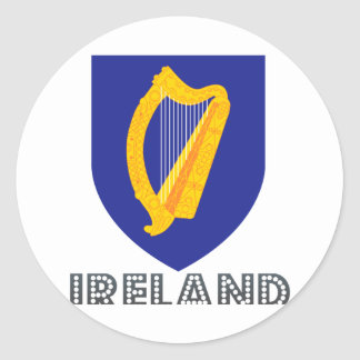 Irish Emblem Round Sticker