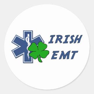 Irish EMT Classic Round Sticker