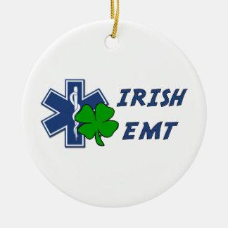Irish EMT Double-Sided Ceramic Round Christmas Ornament