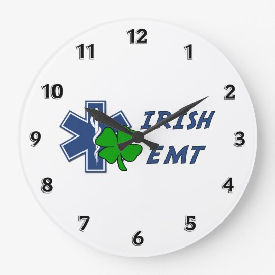 Irish EMT Large Clock