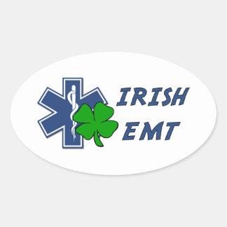 Irish EMT Oval Sticker