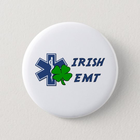 Irish EMT Pinback Button