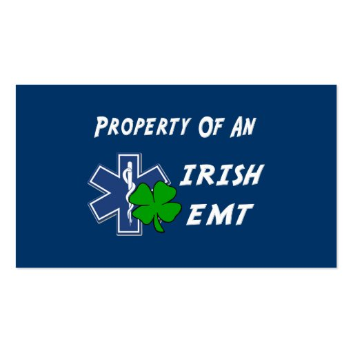 Irish EMT Property Business Card Template