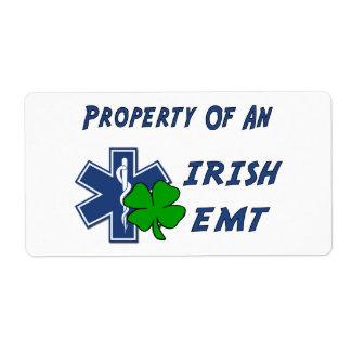 Irish EMT Property Label