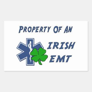 Irish EMT Property Rectangular Sticker