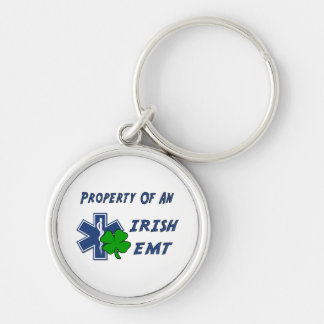 Irish EMT Property Silver-Colored Round Keychain