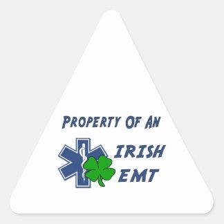 Irish EMT Property Triangle Sticker