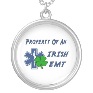 Irish EMT Round Pendant Necklace