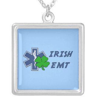 Irish EMT Square Pendant Necklace