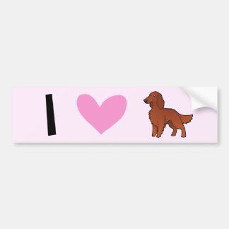 Irish / English / Gordon / R&W Setter Love Bumper Sticker