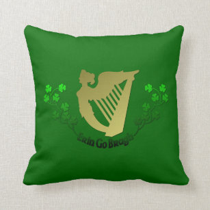 Erin go bragh pillows decorative throw pillows zazzle irish erin go bragh ireland harp and clover throw pillow m4hsunfo