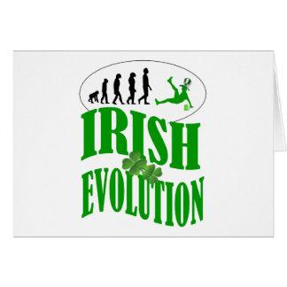 Irish evolution card