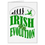 Irish evolution greeting card