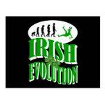 Irish evolution postcard