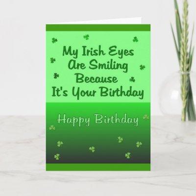 Irish Eyes Birthday Greeting Cards by TheStampStore