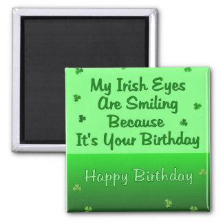 Irish Eyes Birthday 2 Inch Square Magnet