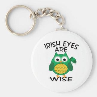 Irish Eyes Basic Round Button Keychain