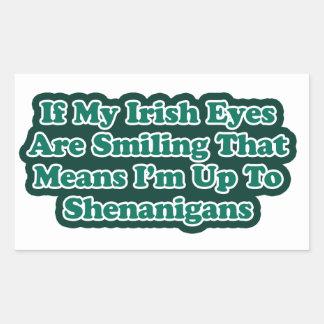Irish Eyes Quote Rectangular Sticker