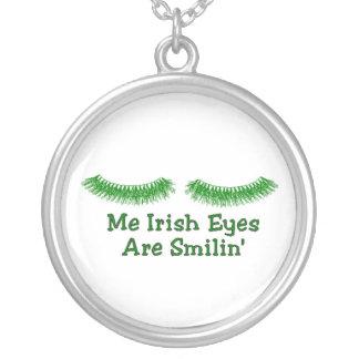 Irish Eyes Round Pendant Necklace