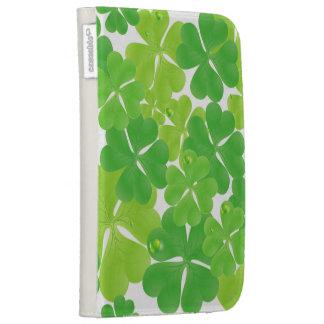 Irish Fab Shamrock Design Kindle Folio Case