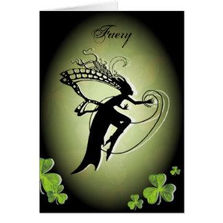 Irish Faery Silhouette Card