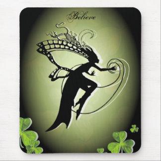 Irish Faery Silhouette Mouse Pad