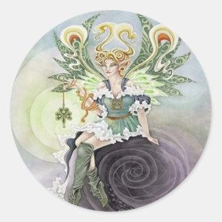 Irish Faery Classic Round Sticker
