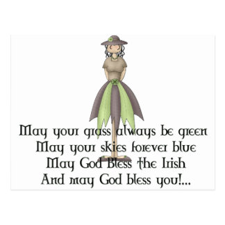 Irish Fairy Girl 2 - Irish Quote Postcard