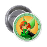 Irish Fairy Pin Redondo De 2 Pulgadas