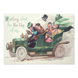Irish Family Antique Car Driving Card