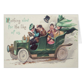 Irish Family Antique Car Driving Card