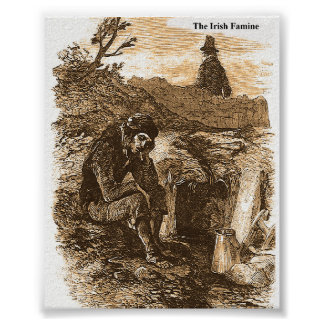 Irish Famine picture collection for poster