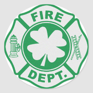 Irish Fire Dept Classic Round Sticker