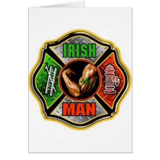 Irish Fire fighter Card