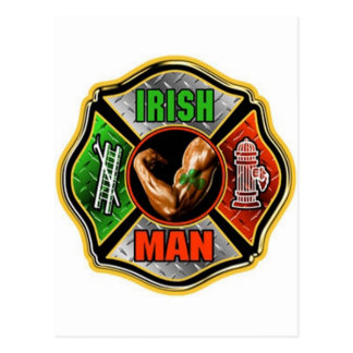Irish Fire fighter Postcard