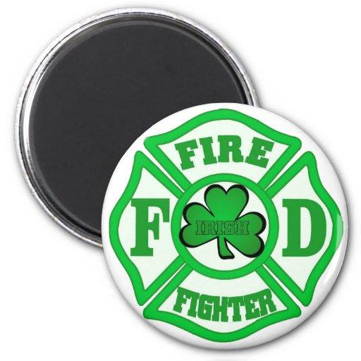IRISH FIREFIGHTER 2 INCH ROUND MAGNET