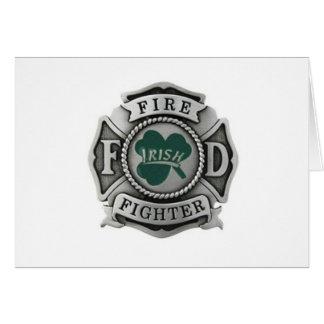 Irish Firefighter Badge Card