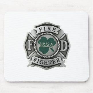 Irish Firefighter Badge Mousepads