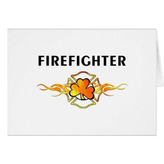 IRISH Firefighter Card
