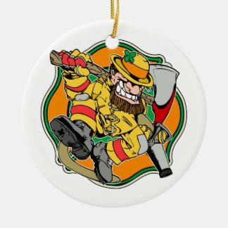 Irish Firefighter Ceramic Ornament