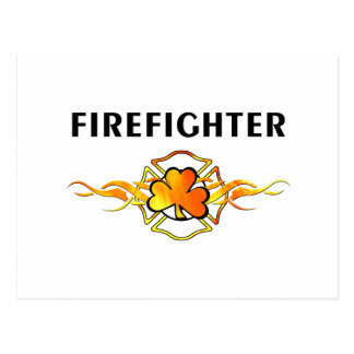 IRISH Firefighter Postcard