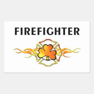 IRISH Firefighter Rectangular Sticker