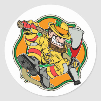 Irish Firefighter T-Shirts and Gifts Classic Round Sticker