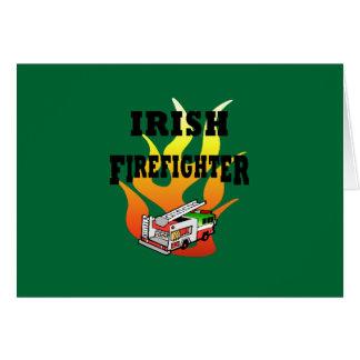 Irish Firemen Card