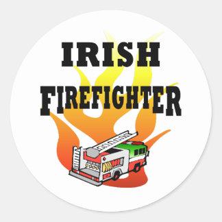 Irish Firemen Classic Round Sticker