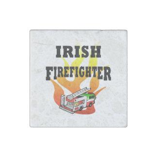 Irish Firemen Stone Magnet
