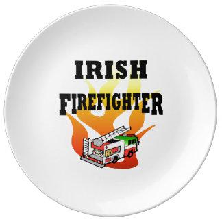 Irish Firemen Porcelain Plate