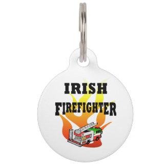 Irish Firemen Pet ID Tag