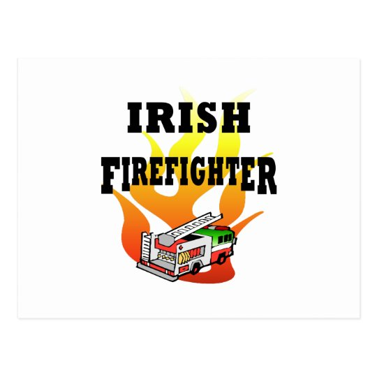 Irish Firemen Postcard
